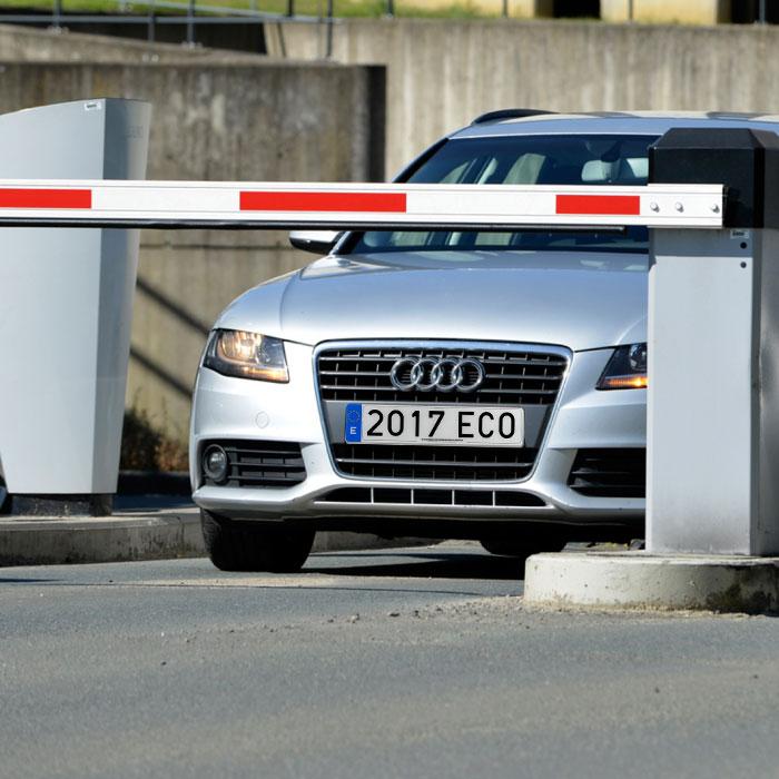 Lector de matrículas para identificación de vehículos (LPR)