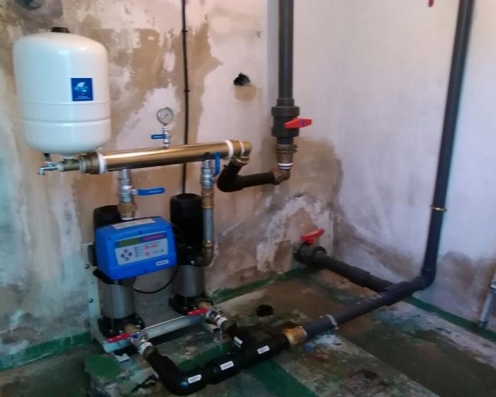 Instalacion nuevo gp agua con variador